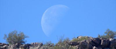 Moon at White Tank Mountains