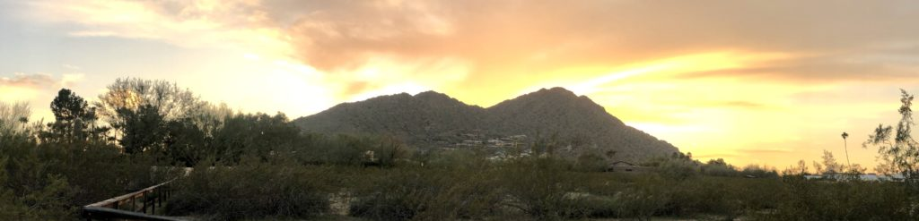 Camelback Mountain from the Northeast at Sunset