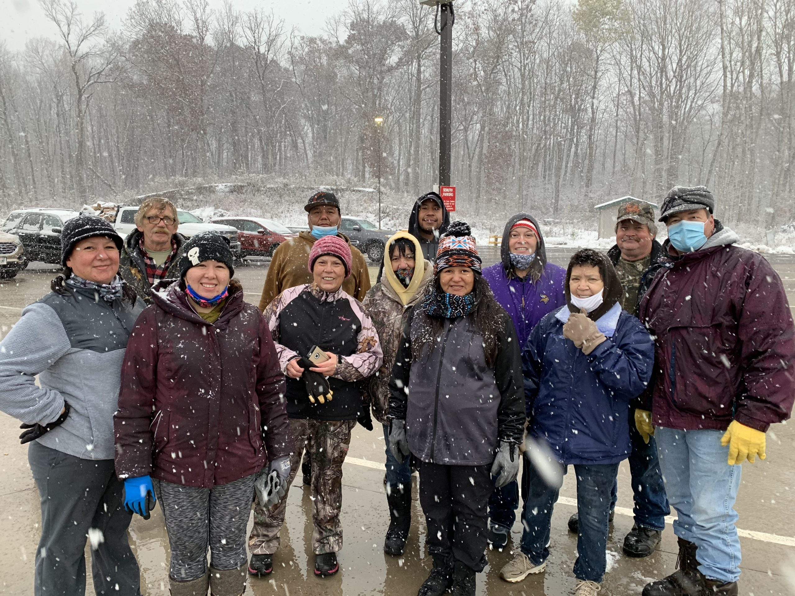 The Volunteers in the snow